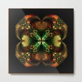 Copper Glow Metal Print
