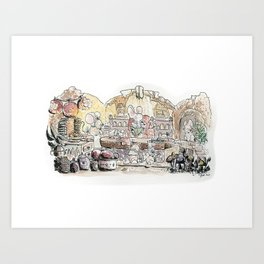 Thumbelina's house! Art Print