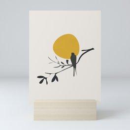 Bird and the Setting Sun Mini Art Print