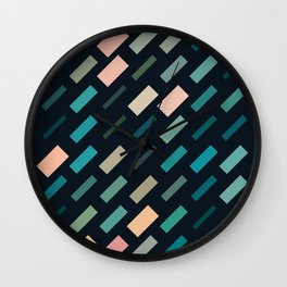 color story - patches Wall Clock
