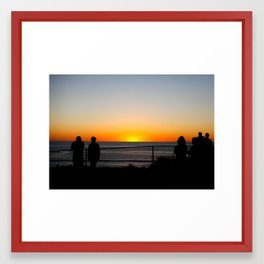 Calming Sunset Framed Art Print