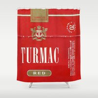 cigarette Shower Curtains featuring Turmac - Vintage Cigarette by Fernando Vieira