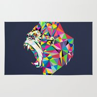 gorilla Area & Throw Rugs featuring Gorilla by Narek Gyulumyan