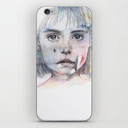 little girl's shadow iPhone Skin