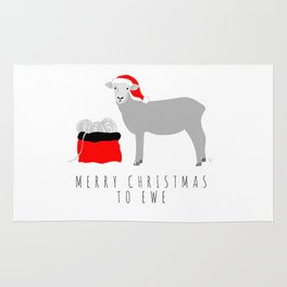 Merry Christmas to Ewe Rug