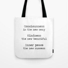 Redefining sexy, beautiful, successful. Tote Bag