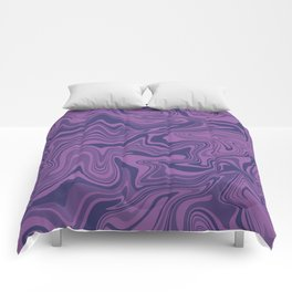 Two-toned purple Agate Comforters