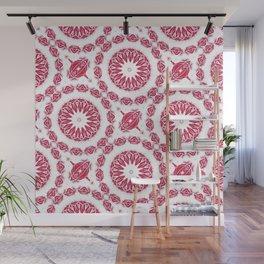 Ruby Mandala Tile Wall Mural