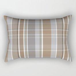 Winter, Plaid, Brown and Grey Rectangular Pillow