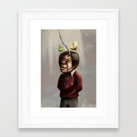 teacher Framed Art Prints featuring Teacher by Lee Grace Illustration