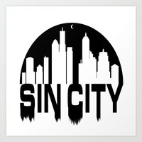 sin city Art Prints featuring SIN CITY  by Robleedesigns