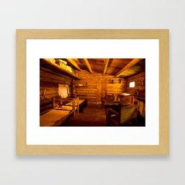 Officers Quarters Fort Clatsop - Lewis And Clark Framed Art Print