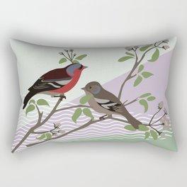 loving chaffinches Rectangular Pillow