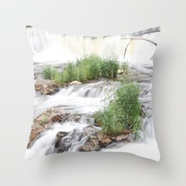Waterfalls of Wisconsin, Willow River Throw Pillow