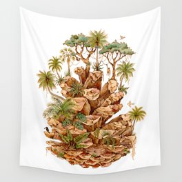 The Pinecone and the Rainforest Wall Tapestry