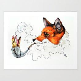 Fox & Goose. Art Print