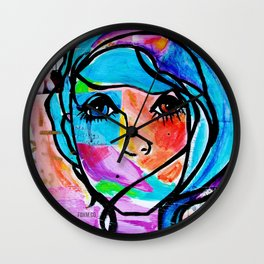 Clean it Up Dirty Girl Wall Clock
