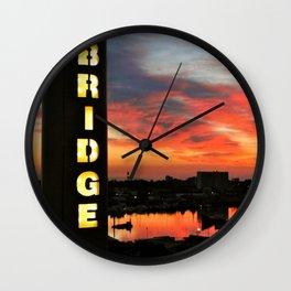 Sunset on Itchen Bridge Wall Clock