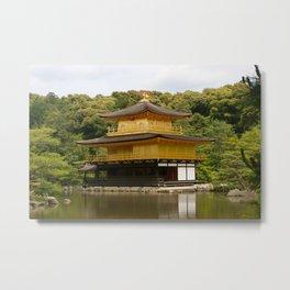 Kinkaku-ji Golden Pavilion Metal Print