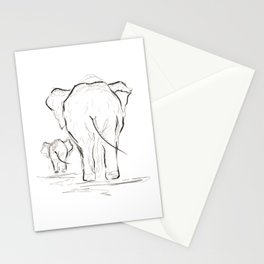 Elephants. Stationery Cards