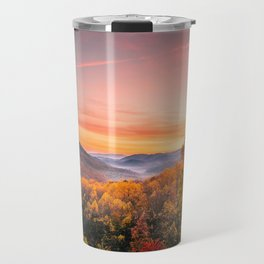 Autumn Sunrise in the Great Smoky Mountains of Tennessee Travel Mug