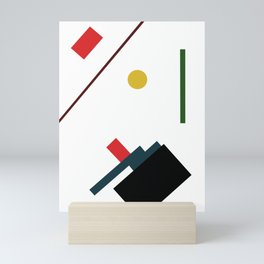 Geometric Abstract Malevic #7 Mini Art Print