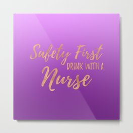 Nurse Gifts - Purple Ombre Metal Print