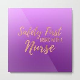Nurse Gifts - Purple Ombre Metal Print