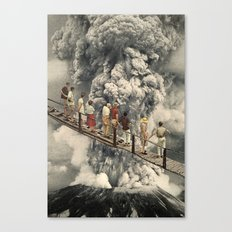 the eruption... Canvas Print