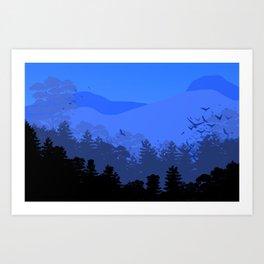 Forest Die Cut Landscape Art Print