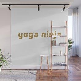 yoga ninja white Wall Mural
