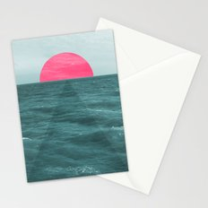 Magenta Sunset Stationery Cards