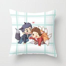 The Fox 'n The Wolf - Part 2 Throw Pillow