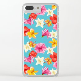 Florais col turq Clear iPhone Case