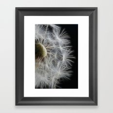 Dandelion Frost Framed Art Print