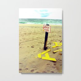 Beach Access Metal Print