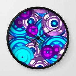 Electric circles Wall Clock