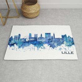 Lille France Skyline Blue Rug