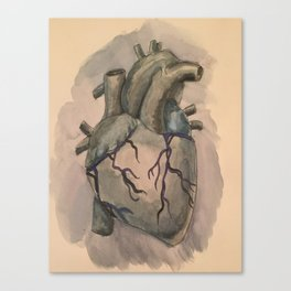 The Anatomy of a Dark Heart  Canvas Print