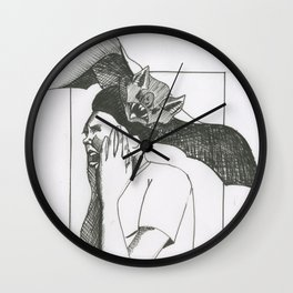 Bat Attack Wall Clock