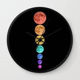 MOON GLOW RAINBOW Wall Clock