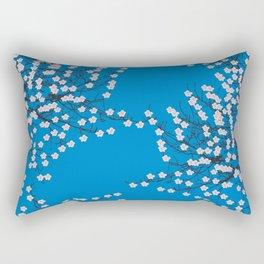 Blue cherry blossom Rectangular Pillow