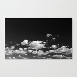 Cotton Clouds (Black and White) Canvas Print