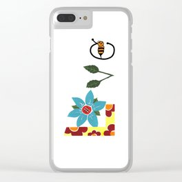 Bee Love Clear iPhone Case