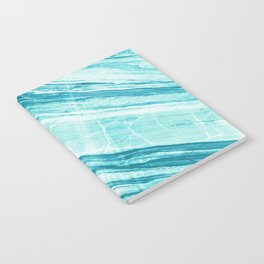 Abstract Marble - Teal Turquoise Notebook