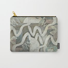 Weirdly Rustic Shapes Carry-All Pouch
