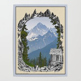CABIN DREAMING OF MOUNT LARRABEE Poster