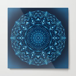 Mandala Night Glow Metal Print