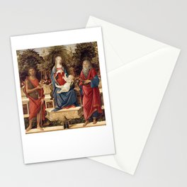 Madonna with Saints by Sandro Botticelli, 1485 Stationery Cards