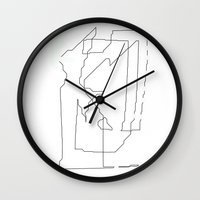 maps Wall Clocks featuring Maps  by short stories gallery
